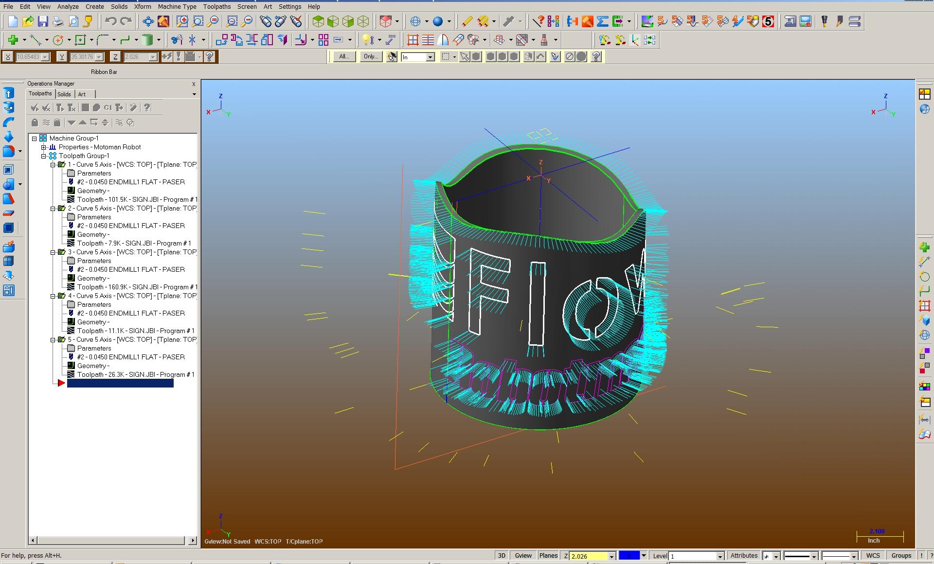 Robotmaster CAD/CAM for robots (Off-Line Programming)